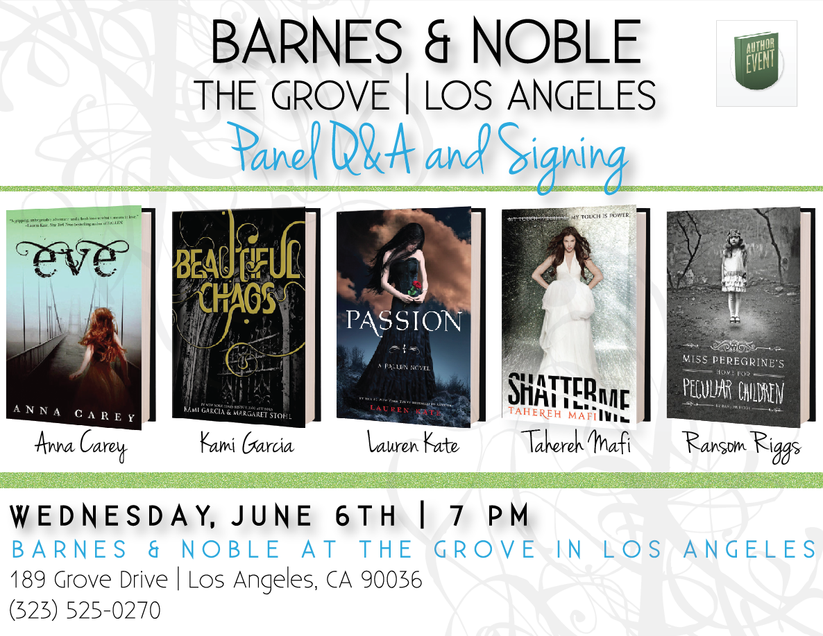 Photos From Ya Event At Barnes Noble The Grove Kami Garcia