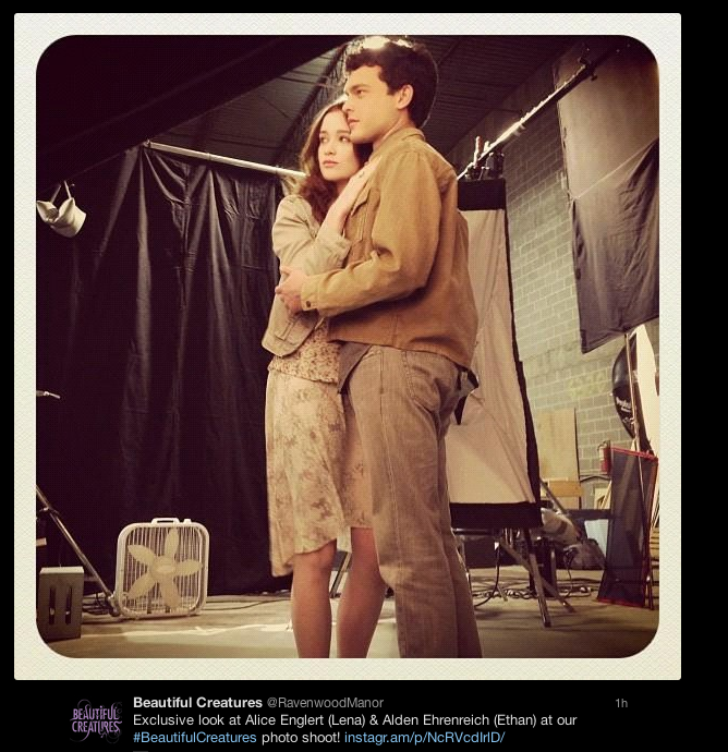 Alice Perrin On Twitter Last Day On Set: Latest Cast Pics From The Beautiful Creatures Movie Set